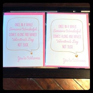 Two Valentine's Day Cards from Paper Source